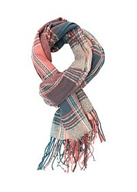 Oversized Plaid Wrap Scarf