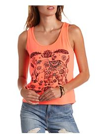 Rhinestone Elephant Graphic Tank Top