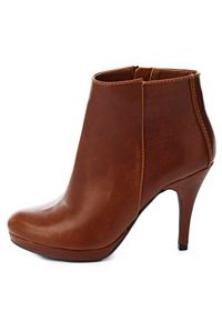 City Classified Round Toe High Heel Ankle Booties