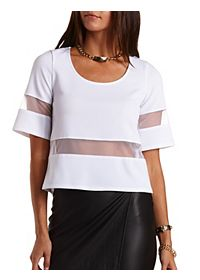 Organza Cut-Out Swing Top