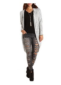 Marled Cocoon Duster Cardigan