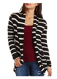 Long Sleeve Striped Cocoon Cardigan