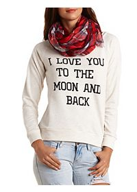 Moon & Back Graphic Sweatshirt