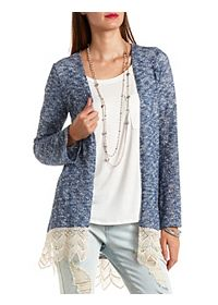 Crochet Trim Duster Cardigan