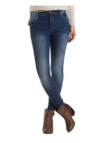 "Refuge ""Hi-Rise Skinny"" Dark High-Waisted Jeans"