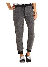Marled Drawstring Sweatpants