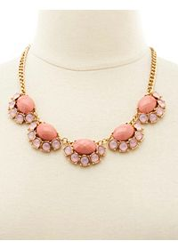 Pink Gem Statement Necklace