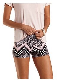 Tribal Chevron Print Bike Shorts