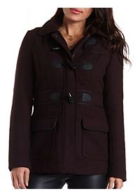 Textured & Hooded Duffle Coat