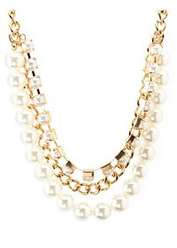 Layered Chain & Pearl Necklace