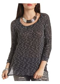 Marled Slub Knit Dolman Top
