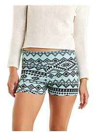 Tribal Print Bike Shorts