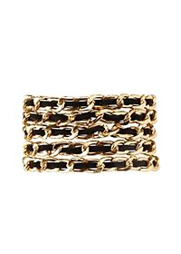 Faux Suede & Chain Magnetic Cuff Bracelet