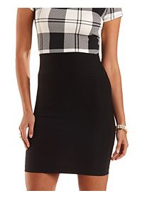 High-Waisted Bodycon Pencil Skirt
