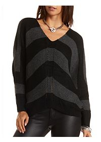 Striped Cocoon Pullover Sweater