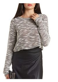 Slub Sweater Knit Crop Top