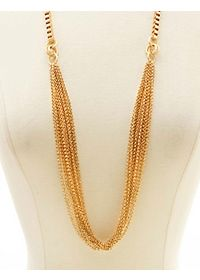 Long Layered Mixed Chain Necklace