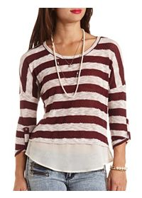 Slub Knit Striped Sweater