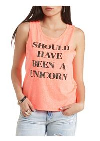 Rhinestone Unicorn Graphic Muscle Tee