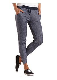 Heathered Zipper Cuff Jogger Pants