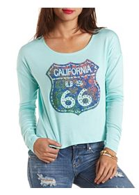 California 66 Graphic Long Sleeve Tee
