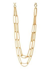 Long Double Mesh Chain Necklace