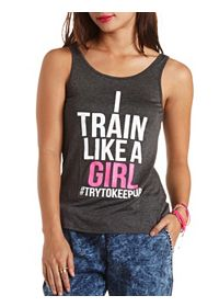Train Like a Girl Graphic Tank Top