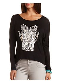Hamsa Graphic High-Low Tee