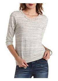 Pearl & Sequin Embellished Sweatshirt
