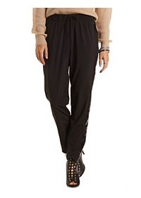 Sequin Drawstring Trousers