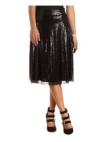Sequin Full Midi Skirt