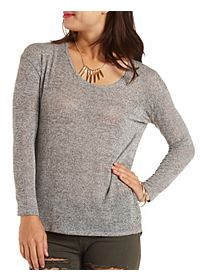 Malrled Sweater Knit Long Sleeve Top