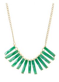 Jade Bars Collar Necklace