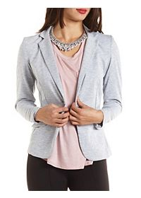 Long Sleeve Single Button Blazer