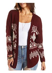 Slouchy Aztec Cardigan Sweater