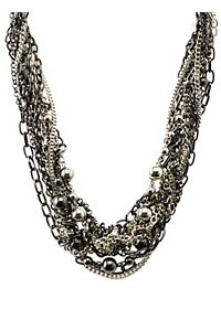 Knotted Chain Collar Necklace