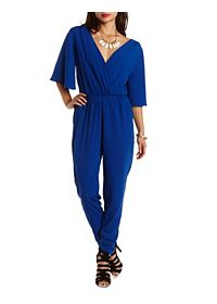 Angel Sleeve Wrap Jumpsuit