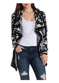 Patterned Cascade Cardigan Sweater