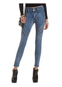 Quilted Skinny Moto Jeans