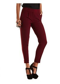 Singe Pleat High-Waisted Trousers