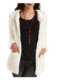 Long Line Faux Fur Coat