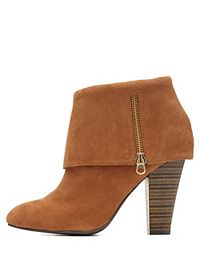 Qupid Cuffed Ankle Boots