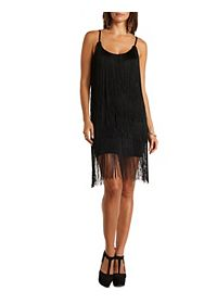 Tiered Fringe Bodycon Dress