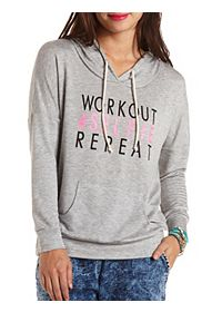 Workout Selfie Graphic Hoodie