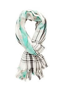 Lightweight Plaid Wrap Scarf