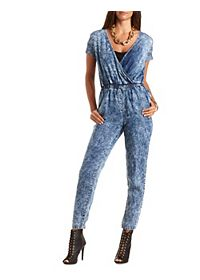Acid Wash Chambray Jumpsuit