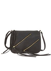 Double Zipper Cross-Body Purse