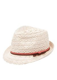 Two-Toned Band Crochet Fedora