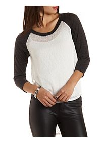 Side Slit High-Low Baseball Tee