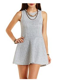 Quilted Sleeveless Skater Dress